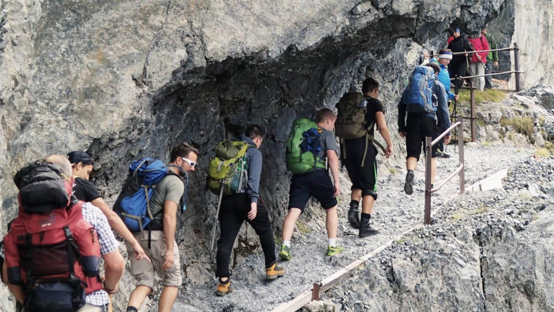 Shotokan Leuggern im Val d'Uina
